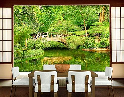 Papiertapete - Fototapete Wald No.200 'LAKE VIEW' 400x280cm Garten See , Größe:280cm x 400cm