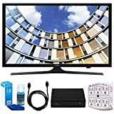 Samsung UN50M5300 Flat 50'' 1080p LED SmartTV (2017 Model) w/ Tuner Bundle Includes, HD Digital TV Tuner, SurgePro 6-Outlet Surge Adapter w/ Night Light, 6ft. HDMI Cable & Screen Cleaner For LED TVs