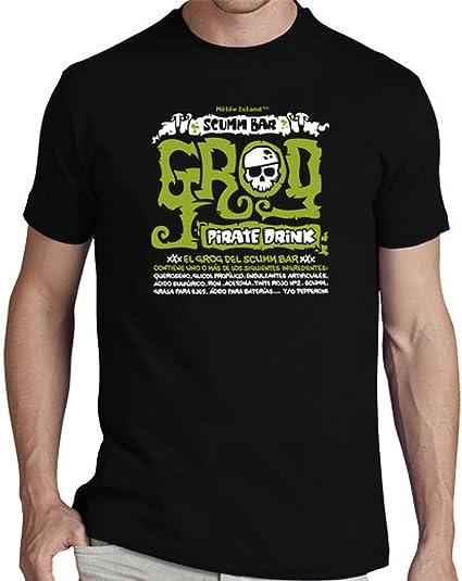 latostadora Camiseta Monkey Island: Grog - Camiseta Hombre clásica, Negro Talla S: donrobot: Amazon.es: Ropa y accesorios