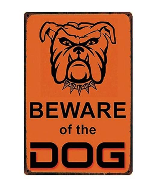 Cartel Metalicas Decoración Perro Chihuahua Charlie Cuidado ...