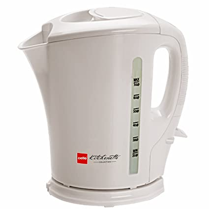 Cello Quick Boil 100 1.5-Litre 2000-Watt Kettle (White)