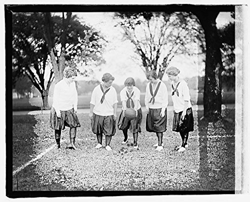 Vintography 16 x 20 Reprinted Old Photo ofGirls soccer 1919 National Photo Co 50a by Vintography