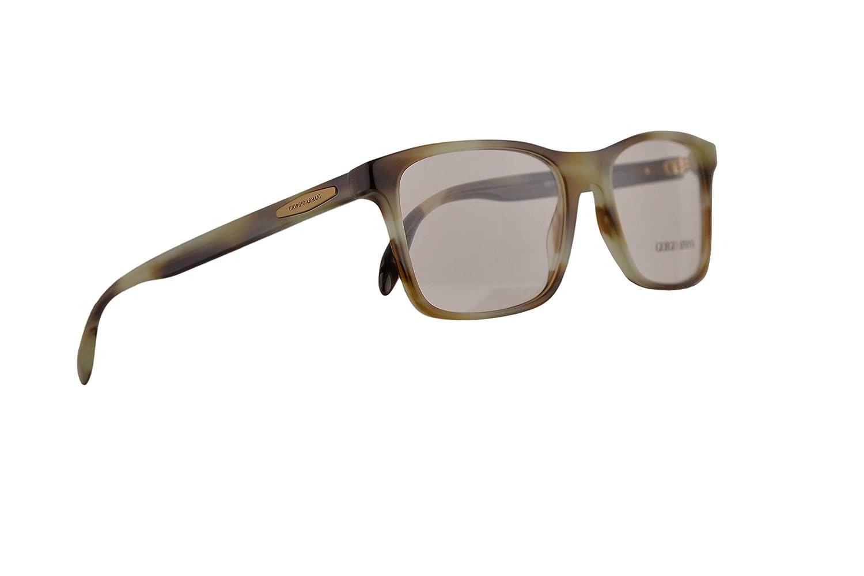 a123f5bf50a Amazon.com  Giorgio Armani AR7163 Eyeglasses 55-18-145 Striped Green w Demo  Clear Lens 5708 AR 7163  Clothing