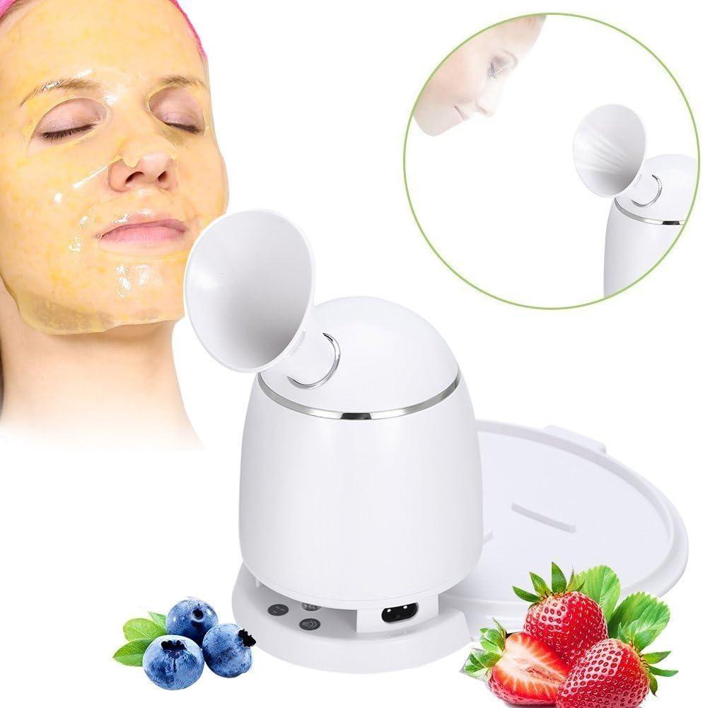 2 en 1 Máquina para Mascarilla Facial + vaporizador facial, DIY Mascarilla natural de frutas y verduras en los poros Removedor de acné