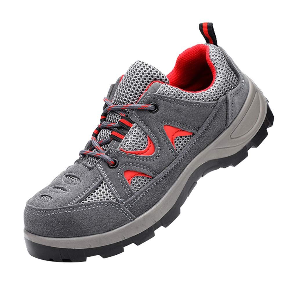 Unisex Scarpe di Sicurezza Scarpe da Lavoro Scarpe Protettive Scarpe Sportive Traspirante Puntale in Acciaio Leggero Antiscivolo Scarpe da Ginnastica da Trekking Scarpe da Sportive Casual