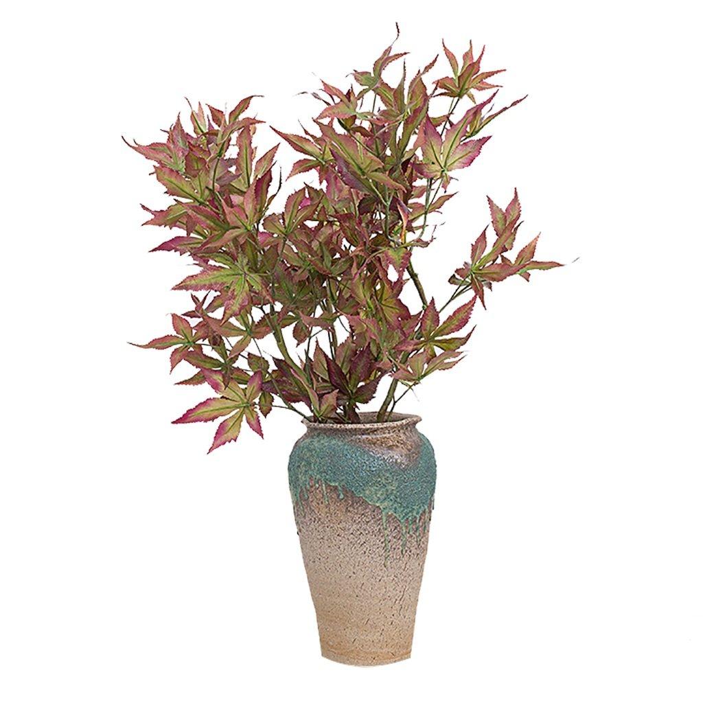 GWM 人工花、偽リアルタッチの花シルクプラスチック、メープルリーフ、ホームガーデンパーティーのウェディングデコレーション B07J5SRPQQ