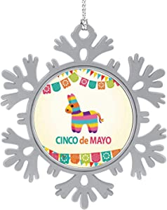 C COABALLA Mexican Fiesta Pinata Party Invitation - Mexico,Hanging Ornament Decoration Kit,Hanging for Xmas Holiday Party Decor Latin 5PCS