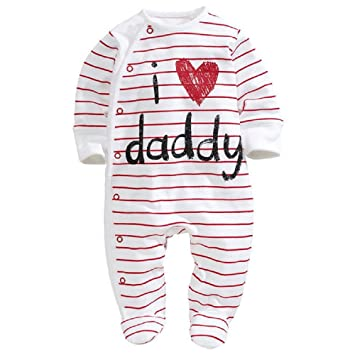 a6d6b30f3 ChenStarUK baby clothes love Dad and mummy boys girls rompers ...