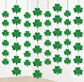 12PCS St. Patrick's Day Shamrock Decorations - Lucky Irish Party Hanging Ornaments Garland