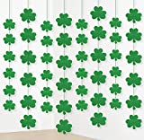 #10: 12PCS St. Patrick's Day Shamrock Decorations - Lucky Irish Party Hanging Ornaments Garland