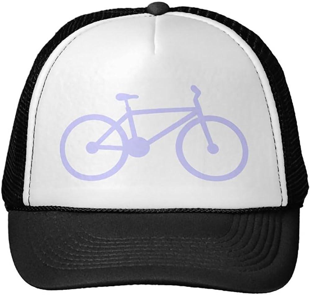 Lavender Blue Bicycle Trucker Hat