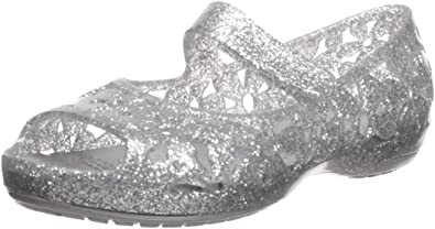 Crocs Filles citilane multi-étoiles violet Slip-Sur Toile Baskets-Taille 6