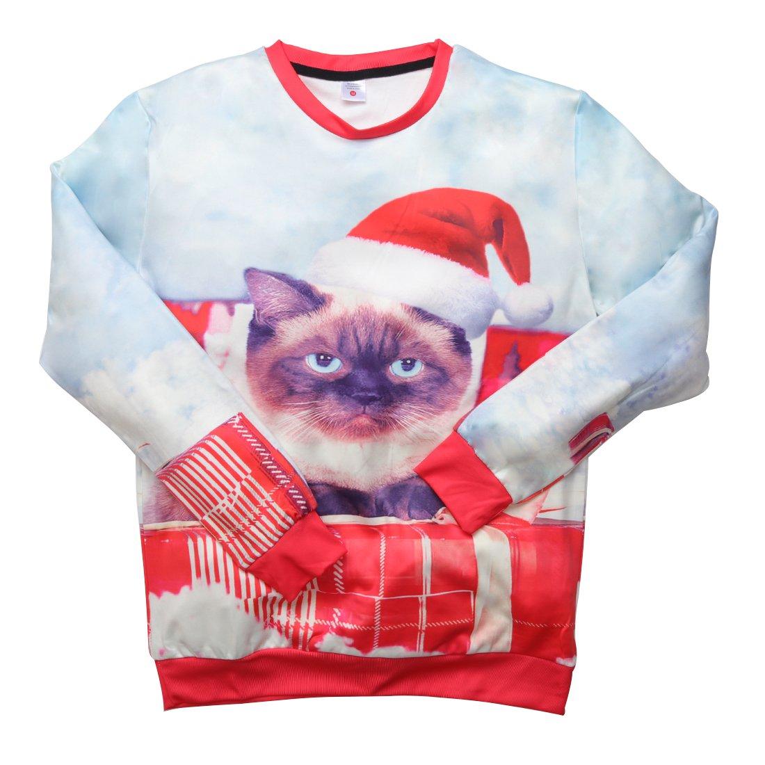 543a7b04e9088a Uideazone Men Women Ugly Christmas Pullover Sweatshirts 3D Digital ...