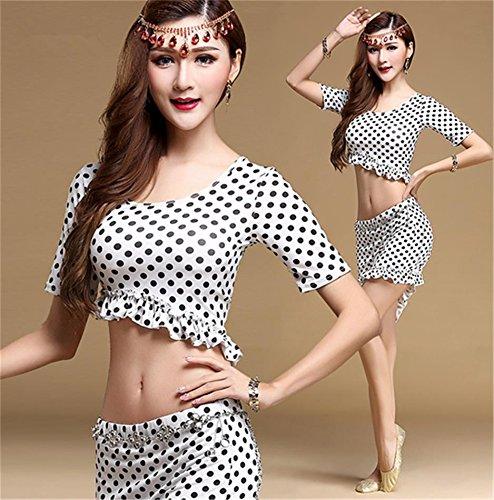 costume b danse pratique danse white du de costumes du porter performance ventre ventre Femmes HqXw11
