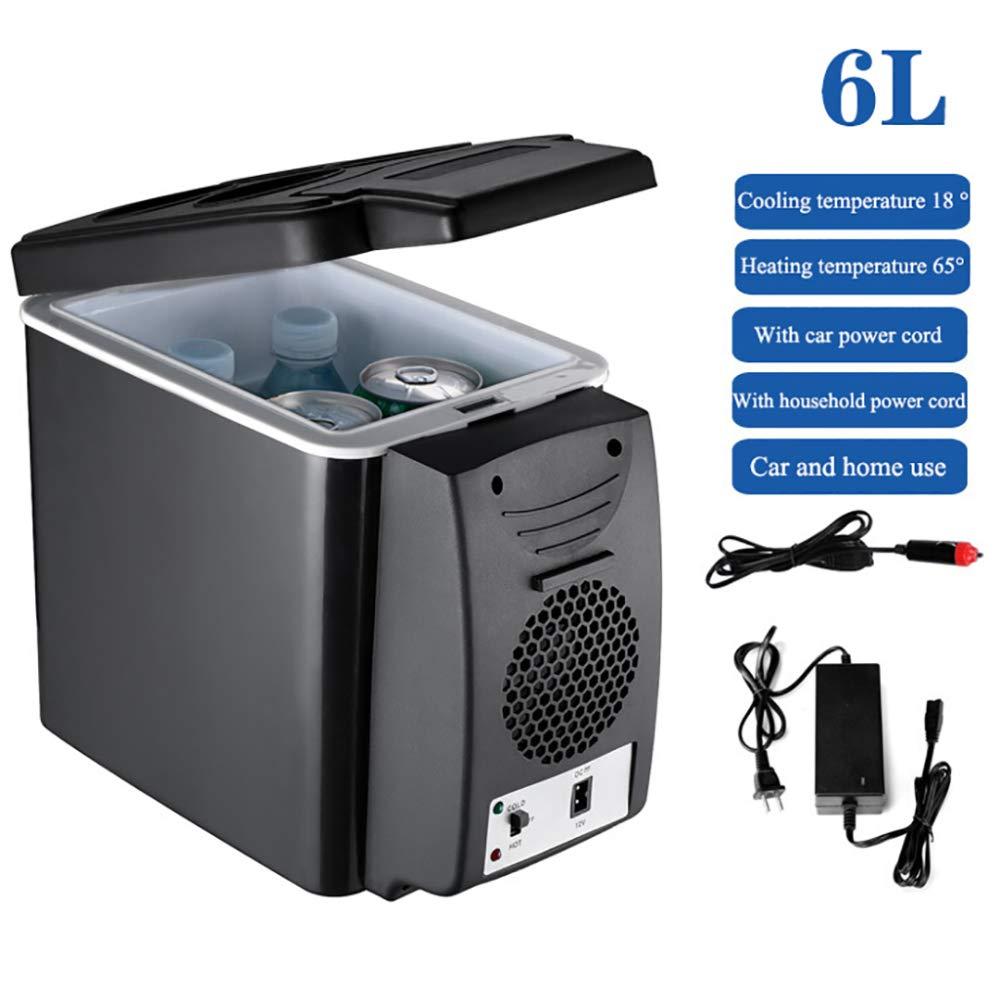 KEMN Refrigerateur De Voiture 6 litres Mini Frigo Portable 12V//220V-240V Glaciere Electrique Camping Portable,L/éger,Compact,White