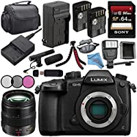 Panasonic Lumix DC-GH5S Mirrorless Micro Four Thirds Digital Camera + Panasonic Leica DG Vario-Elmarit 8-18mm f/2.8-4 ASPH. Lens + DMW-BLF19 Lithium Ion Battery + 128GB SDXC Card Bundle