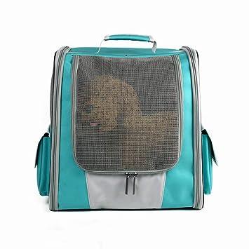Qinf Transpirable Malla De Dos Hombros Mascota Mochila Salir Portátil Mascota Bolsa Cat & Dog