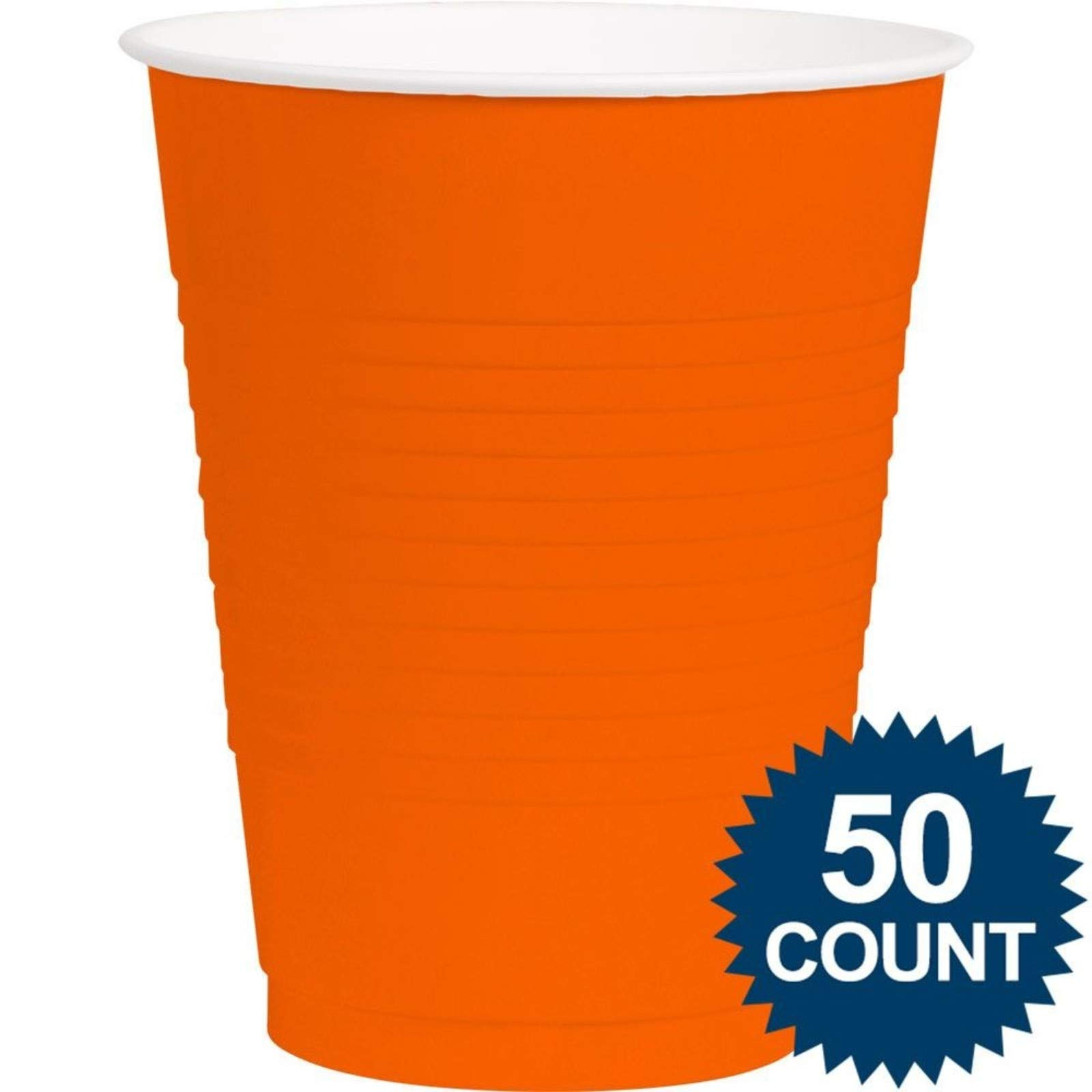 Amscan Orange Plastic 16oz. Cup (50 Pack) - Party Supplies by amscan