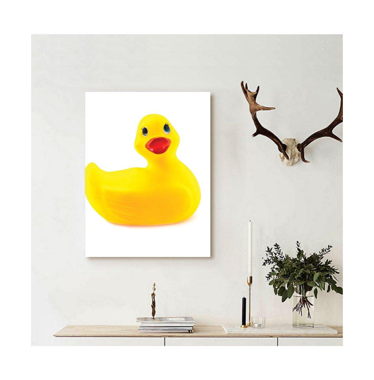 Amazon.com: Liguo88 Custom canvas Rubber Duck Wall Hanging Cute ...