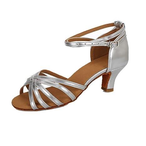 9ddb7e52fa VESI-Donna Scarpe da Ballo Latino/Standard Beige: Amazon.it: Scarpe ...