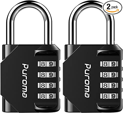 Pack of 2 (Blue) Toolbox Gym or Sports Locker Employee Case Metal and Plated Steel Material for School ORIA Combination Lock Hasp Cabinet and Storage Fence 4 Digit Combination Padlock