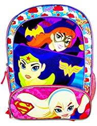 DC Comics Super Hero Girls Batgirl, Wonder Women and Supergirl Backpack