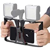 Zeadio Smartphone Video Rig, Phone Movies Mount Handle Grip Stabilizer, Filmmaking Recording Rig Case for Video Maker…