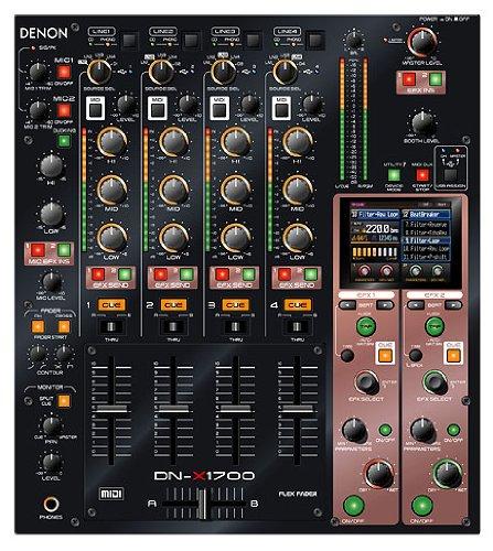 Denon DJ DNX-1700 | Professional 4-Channel Digital DJ Mixer by Denon