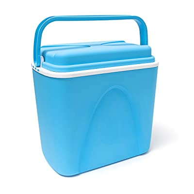 24 Litre Large Blue Food Drink Picnic Beach Camping Insulated Ice Pack Cool Box by Edco