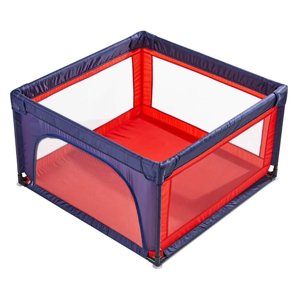 幼児用遊び場、ドア付き、ポータブルベビーベビーソーン、アンチロールオーバー保育園キッズルームデバイダ、高さ70cm (色 : Blue+red)  Blue+red B07MR5441L