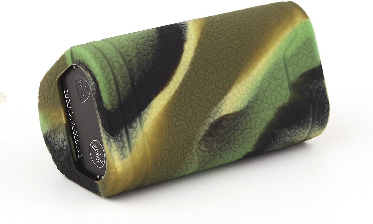 RutschfestSch/ützende Silikon-H/ülle-Abdeckungs-Verpackungs-Haut f/ür Wismec RX Gen3 Dual 230w Segeln Skin /Ärmel Case Cover Camo CEOKS f/ür Wismec RX Gen3 Dual 230w H/ülle