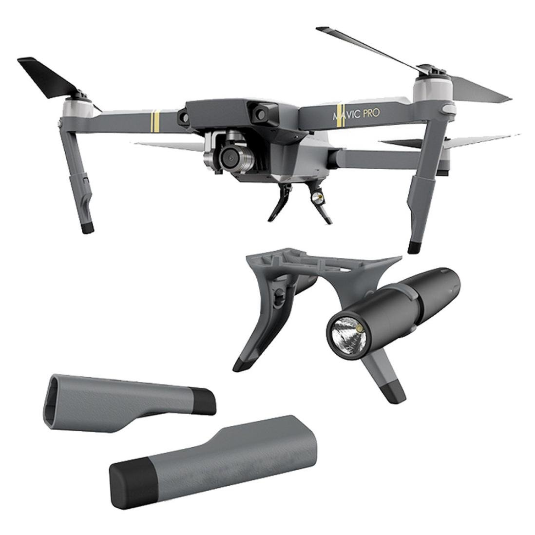 Creazy PGY新しい拡張Landing Gear拡張子with LEDヘッドランプセットfor DJI Mavic Pro B072MH6PDQ
