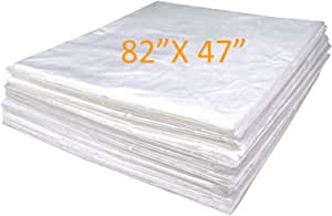 "METCRY Plastic Sheeting for Body Wrap Used Inside a Far Infrared Sauna Blanket 47""x82"" PVC (25 Pcs)"