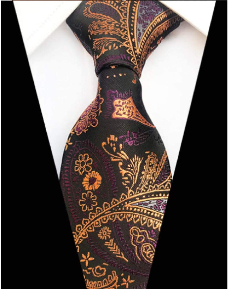 DYDONGWL Corbata Fina Hombre,8cm Seda clásica Hombres Corbata A ...