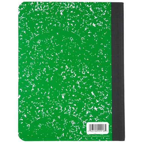 Mead Composition Book, Notebook, Wide Ruled, 9.75 x 7.5 Inch, Green (72249) Photo #5