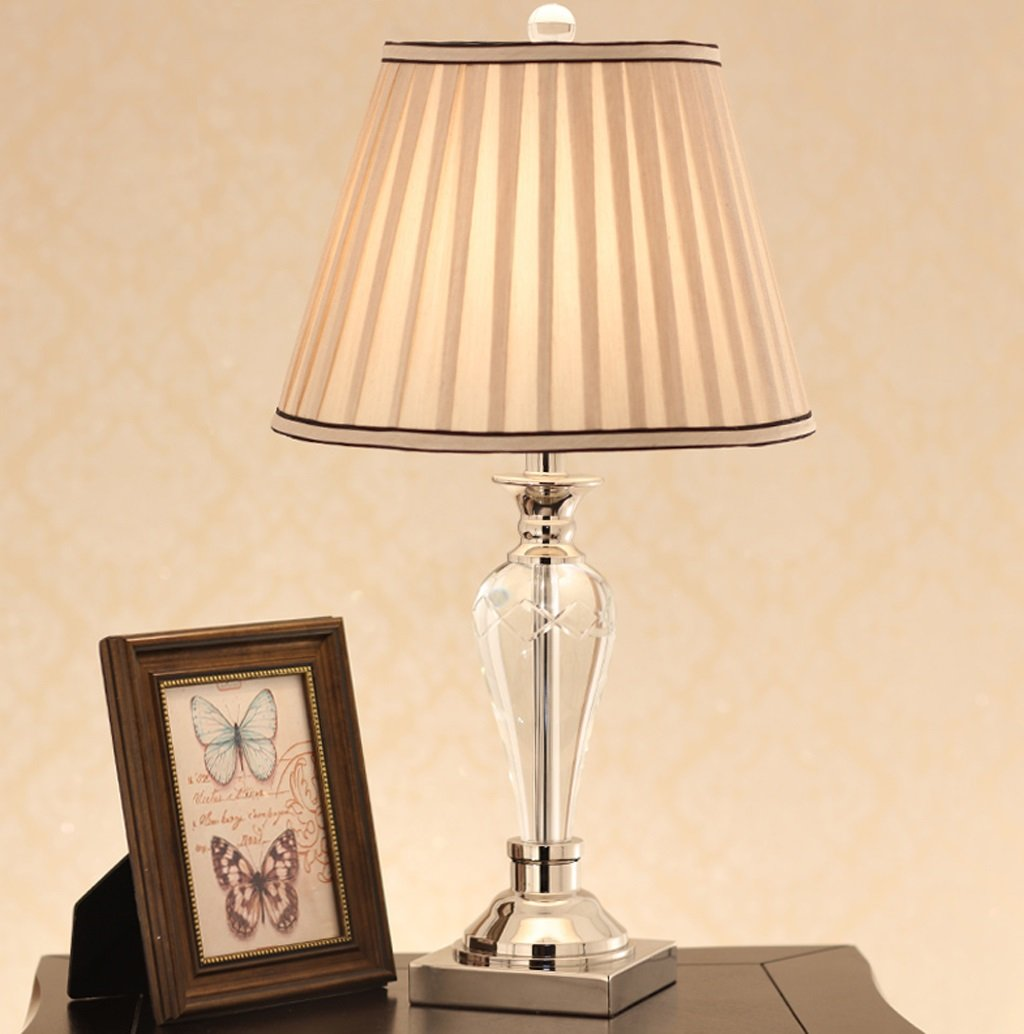 ZSFWY Amerikanische Kristalltischlampe Moderne einfache Nachttischlampe Individualität Wohnzimmer Tischlampe Knopfschalter E27 Lichtquelle Zweifarbig Optional (Farbe   B) B07JDX1WST   Mangelware