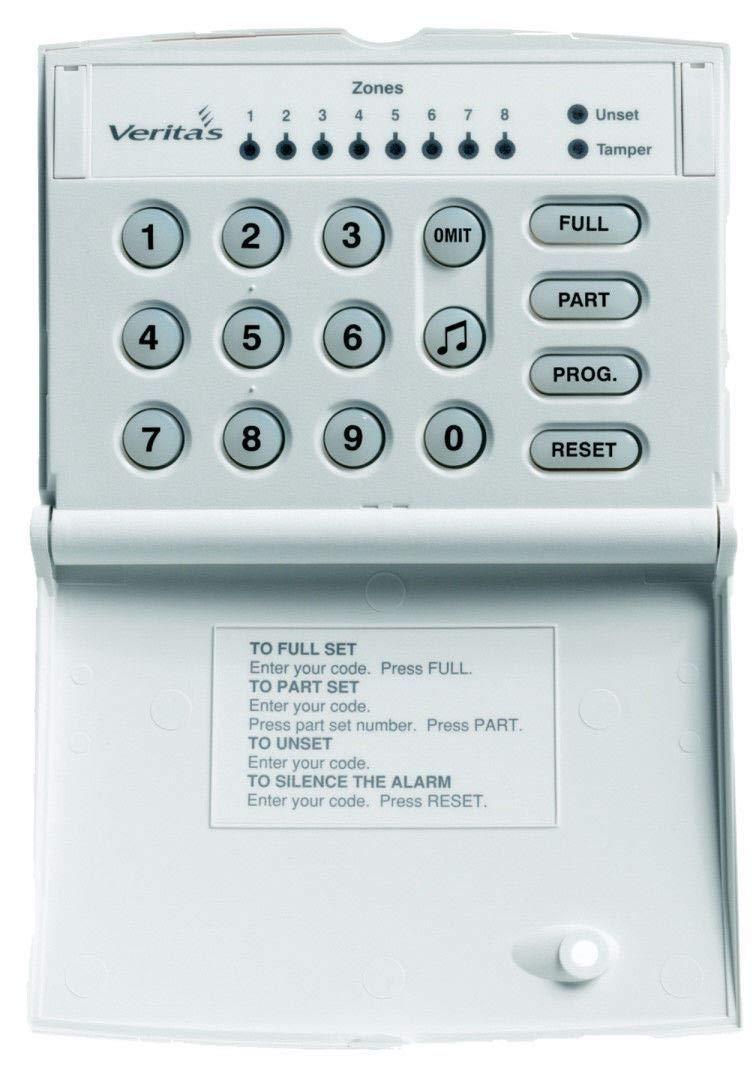 V8 C8 R8 Plus /& Excel R8 Texecom DCA-0001 Veritas RKP LED Remote Keypad works with Veritas Control Panels White