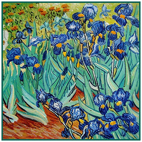(Orenco Originals Irises in The Garden Detail Van Gogh Counted Cross Stitch Pattern)