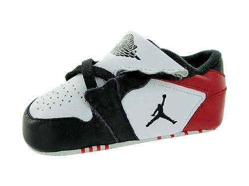 c8bc48ed1f8 Jordan Nike Toddler 1st Crib (CB) White/Black/Gym Red Casual Shoe 4 ...
