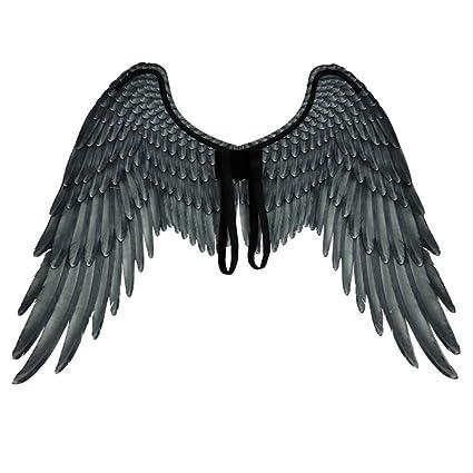 XJIUER Decoración de halloween Tela 3D Alas de ángel Ángel de ...