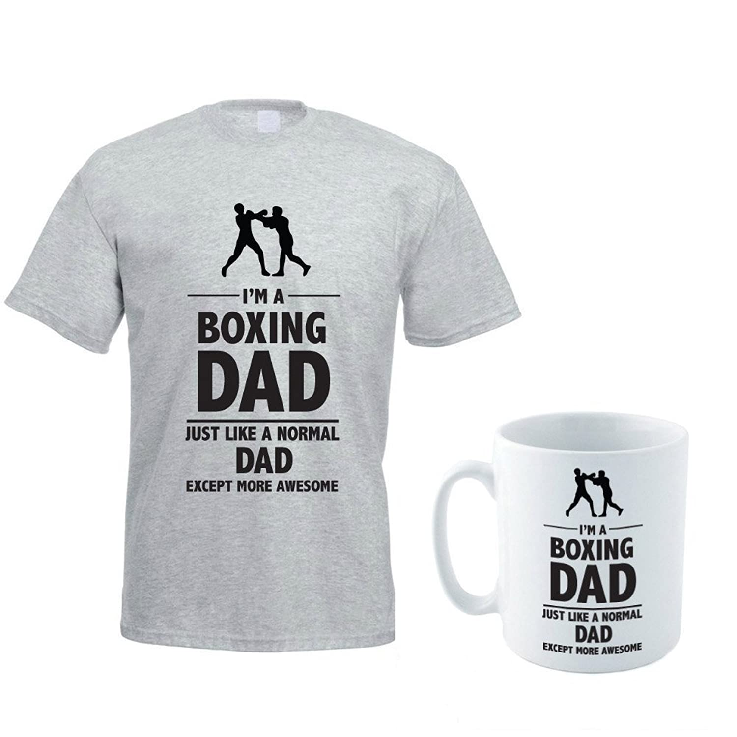 I'M A BOXING DAD - Dad / Daddy / Funny / Novelty Gift Idea / Men's T-shirt And Ceramic Mug Gift Set