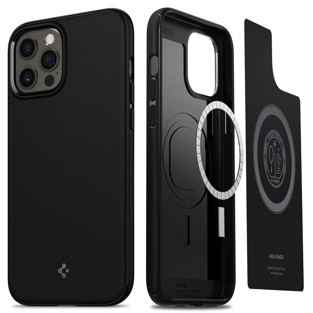 Spigen Mag Armor Back Cover Case Designed for iPhone 12 and iPhone 12 pro.