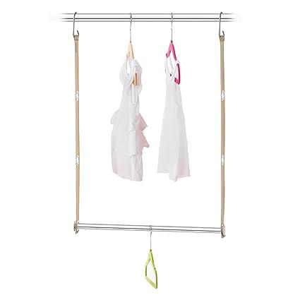 Neatfreak Neatkids ClosetMAX Expandable Closet Bar Organizer Hanger System,  Beige