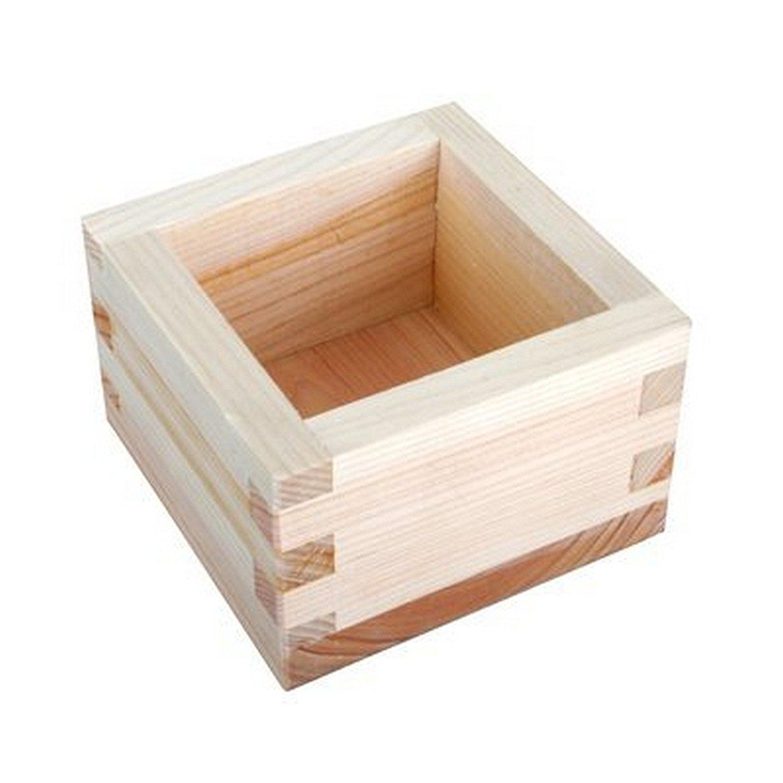 JapanBargain Set of 4, S-2757x4, Japanese Masu Wooden Sake Cup, 4 oz.