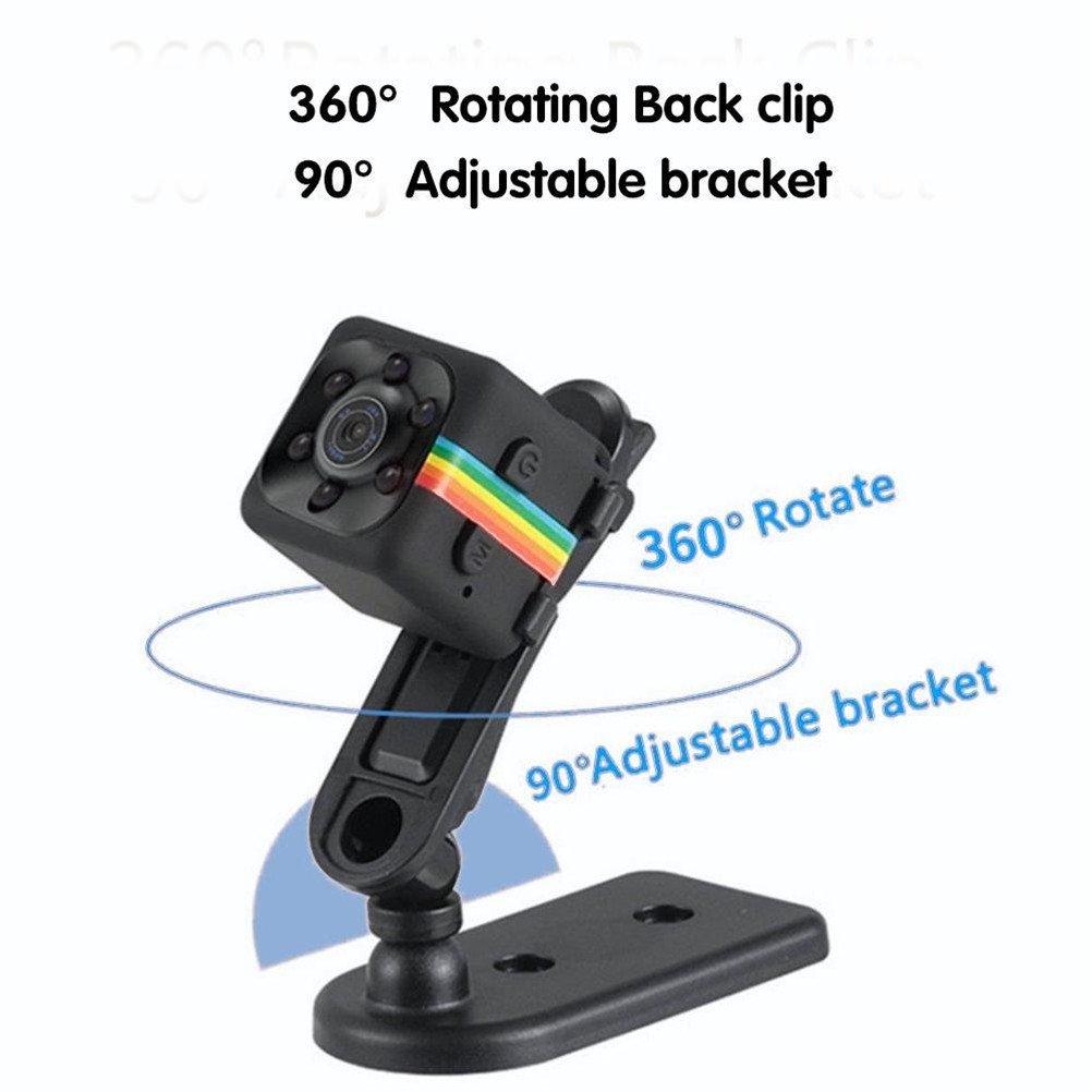 1080P mini cámara espía SQ11 Spy cámara oculta Web portátil deporte DV cámara con infrarrojos visión nocturna y detección de movimiento para cámara de ...