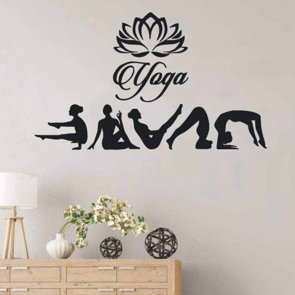 Modeganqingg Etiqueta de Vinilo Desmontable Postura de Yoga ...