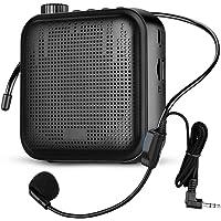 Altavoz portátil, 12 W 2000 mAh, tamaño pequeño, recargable, con cable, micrófono y auricular, para múltiples…