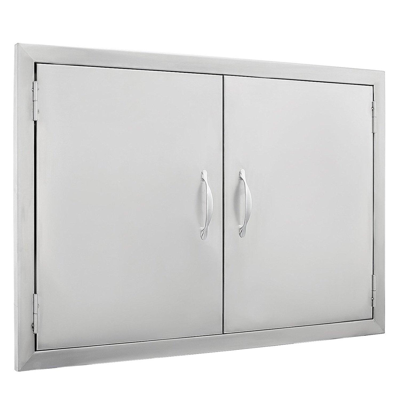Z-bond 30 1/2''W x21''H BBQ Access Door 304 Stainless BBQ Island Door Heavy Duty Double Door Great for Outdoor Kitchen