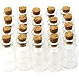 10pcs Tiny Mini Vacío Borrar Cork botellas de cristal Viales