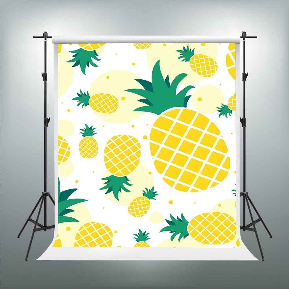 7/×5ft Photo Backdrop Vinyl Plant Fruits Pineapple Minimalism and Stylish Looking Photo Studio Background Wall Covering Video Shooting Background Wall Photography Backdrop for Photo Studio